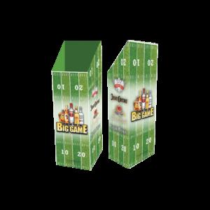 Diageo Spirits_Corrugated Football Case Bin