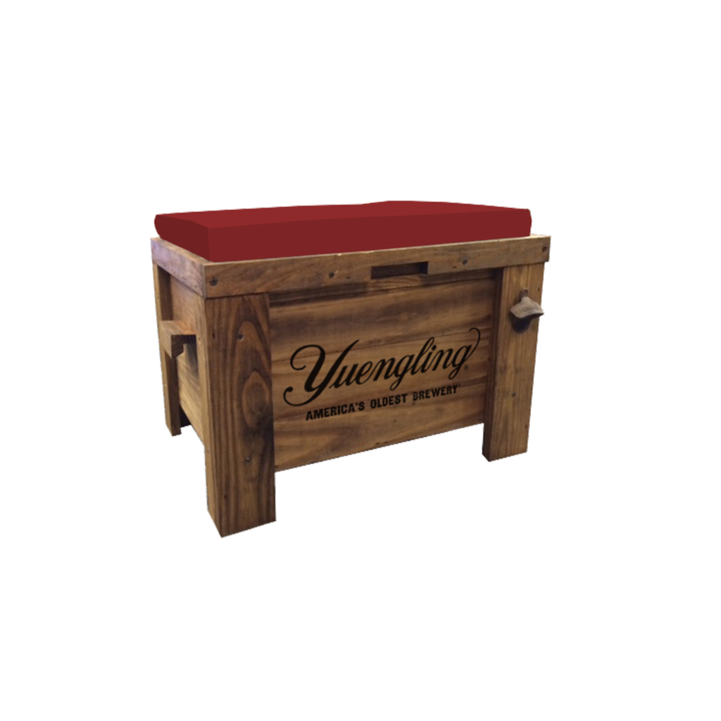 Cool Yuengling Wooden Cooler Bench Gap Promo Gmtry Best Dining Table And Chair Ideas Images Gmtryco